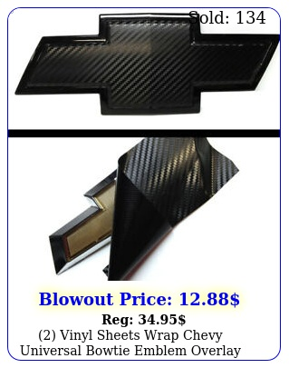 vinyl sheets wrap chevy universal bowtie emblem overlay cover deca