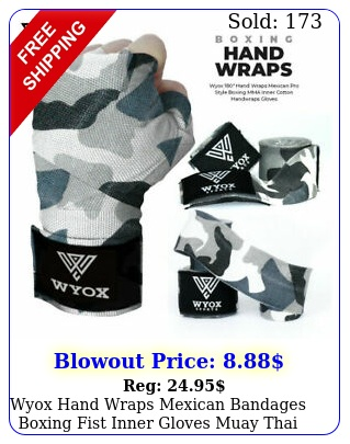 wyox hand wraps mexican bandages boxing fist inner gloves muay thai mma cam