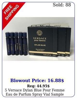 versace dylan blue pour femme eau de parfum spray vial sample oz m