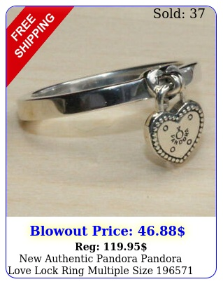 authentic pandora pandora love lock ring multiple size w suede pouc