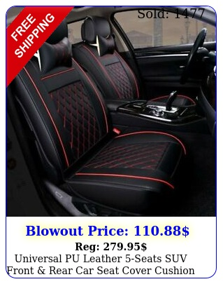 universal pu leather seats suv front rear car seat cover cushion full se