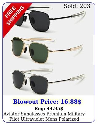 aviator sunglasses premium military pilot ultraviolet mens polarized sunglasse