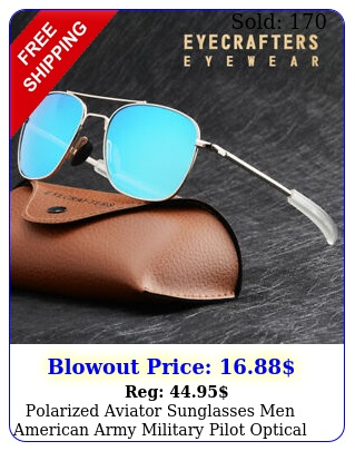 polarized aviator sunglasses men american army military pilot optical sunglasse