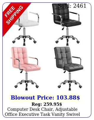 computer desk chair adjustable office executive task vanity swivel chair wheel