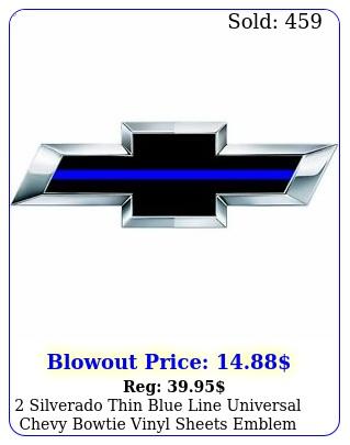 silverado thin blue line universal chevy bowtie vinyl sheets emblem overla
