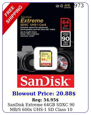 sandisk extreme gb sdxc mbs x uhs sd class memory card u camer
