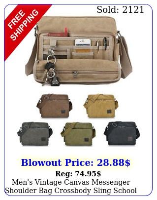 men's vintage canvas messenger shoulder bag crossbody sling school bags satche