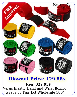 verus elastic hand wrist boxing wraps pair lot wholesale lon