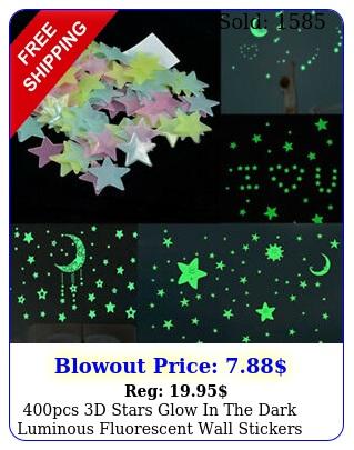 pcs d stars glow in the dark luminous fluorescent wall stickers kids bedroo