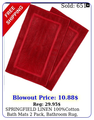 springfield linen cotton bath mats pack bathroom rug x tub ma