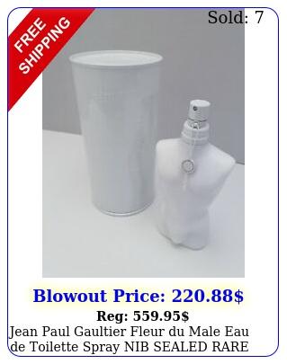 jean paul gaultier fleur du male eau de toilette spray nib sealed rar