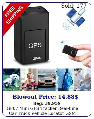 gf mini gps tracker realtime car truck vehicle locator gsm gprs sim tf car