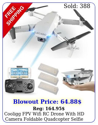 cooligg fpv wifi rc drone with hd camera foldable quadcopter selfie k p to