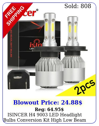 isincer h led headlight bulbs conversion kit high low beam replace haloge