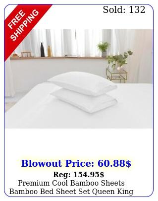 premium cool bamboo sheets bamboo bed sheet set queen king full twin split siz