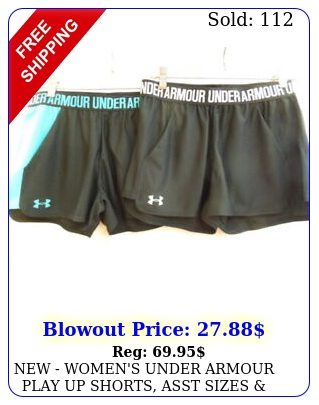 women's under armour play up shorts asst sizes colors