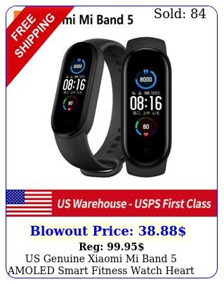 us genuine xiaomi mi band amoled smart fitness watch heart rate monitor blac