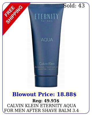 calvin klein eternity aqua men after shave balm o