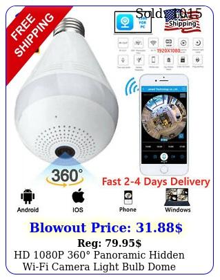hd p panoramic hidden wifi camera light bulb dome surveillance camer