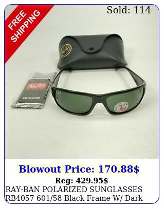 rayban polarized sunglasses rb black frame w dark green polarize