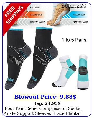 foot pain relief compression socks ankle support sleeves brace plantar fasciiti