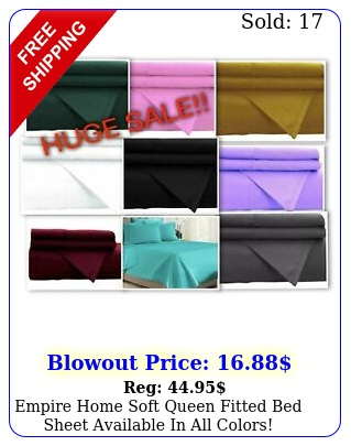 empire home soft queen fitted bed sheet available in all colors overstock sal