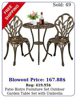 patio bistro furniture set outdoor garden table set with umbrella hole piec