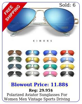 polarized aviator sunglasses women men vintage sports driving metal gradien