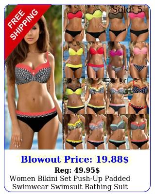 women bikini set pushup padded swimwear swimsuit bathing suit holiday beachwea