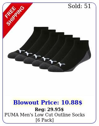 puma men's low cut outline socks pac