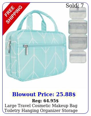 large travel cosmetic makeup bag toiletry hanging organizer storage case pouc