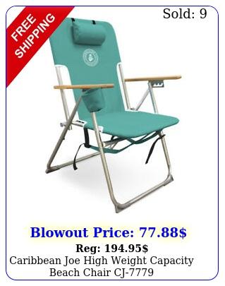 caribbean joe high weight capacity beach chair c