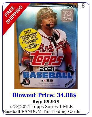 topps series mlb baseball random tin trading cards seale