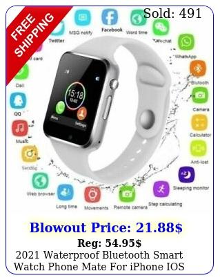 waterproof bluetooth smart watch phone mate iphone ios android samsun