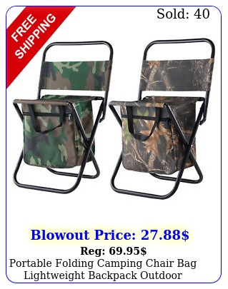portable folding camping chair bag lightweight backpack outdoor camping fishin