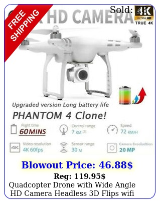 quadcopter drone with wide angle hd camera headless d flips wifi fpv r