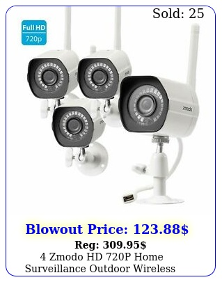 zmodo hd p home surveillance outdoor wireless security camera system ki
