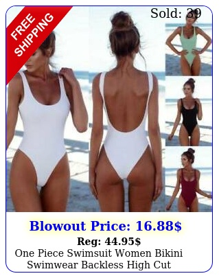 one piece swimsuit women bikini swimwear backless high cut monokini sexy summe