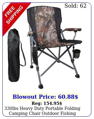 lbs heavy duty portable folding camping chair outdoor fishing picnic rocke