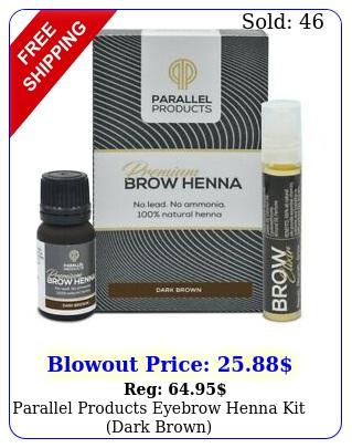 parallel products eyebrow henna kit dark brow