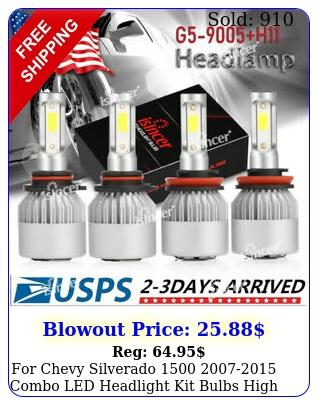 chevy silverado  combo led headlight kit bulbs high low bea