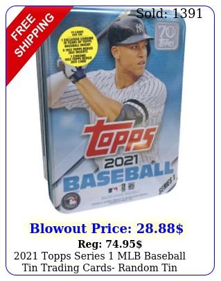 topps series mlb baseball tin trading cards random ti