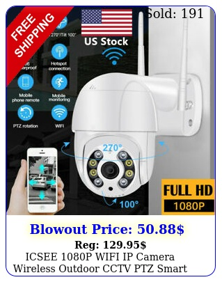 icsee p wifi ip camera wireless outdoor cctv ptz smart home security ir ca