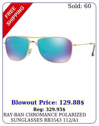 rayban chromance polarized sunglasses rb a goldblue lens m