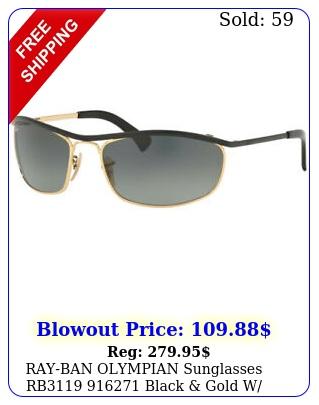 rayban olympian sunglasses rb black gold w grey gradient len