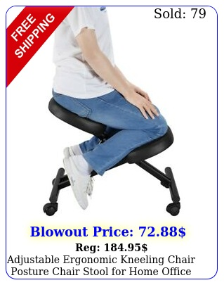 adjustable ergonomic kneeling chair posture chair stool home office blac