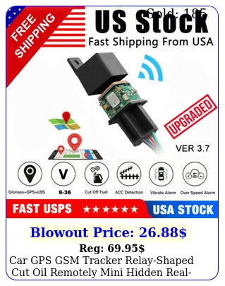 car gps gsm tracker relayshaped cut oil remotely mini hidden realtime trackin