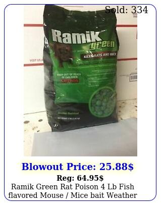 ramik green rat poison lb fish flavored mouse mice bait weather resistan