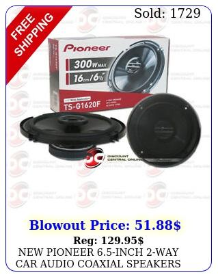 pioneer inch way car audio coaxial speakers pair w ma