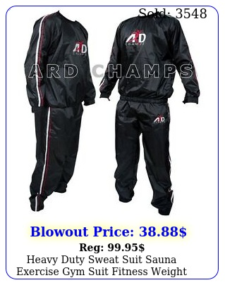 heavy duty sweat suit sauna exercise gym suit fitness weight loss antiri